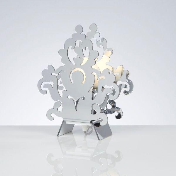 Lampada abat jour design moderno Amarilli Cromo