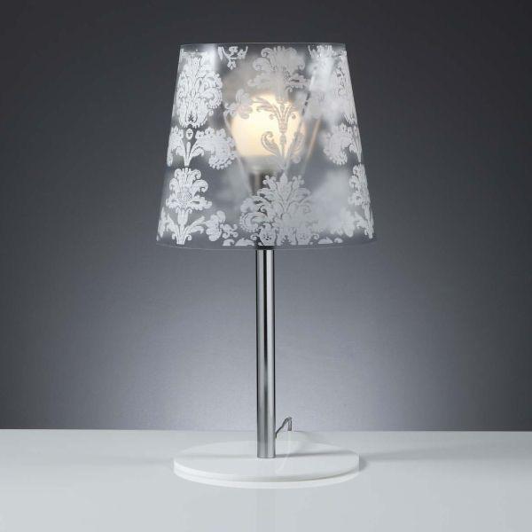Lampada da tavolo design bianco nero argento oro Babette