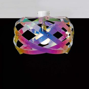 Plafoniera design Nuclea in plexiglass multicolor