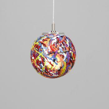 Lampada Reload sospesa moderna in plastica multicolor