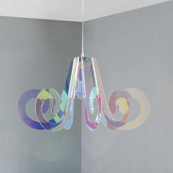 Lampadario a sospensione Ricciolo flash in plexiglass multicolor