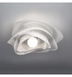 Applique plafoniera Rosa da soffitto design moderno Bianco