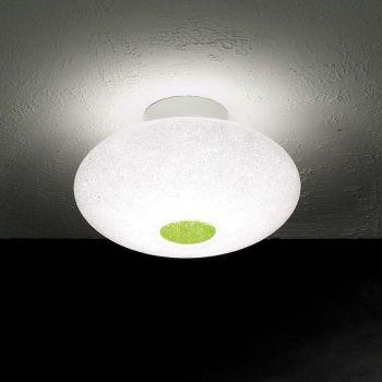 Lampada plafoniera Scintilla in policarbonato bianco