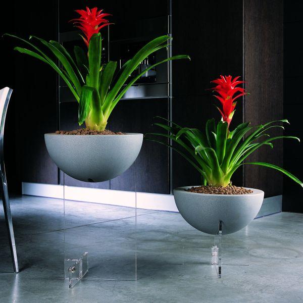 Fioriera per interni design moderno in plexiglass Erbavoglio