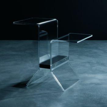 Tavolino Ideo con portariviste per salotto in plexiglass
