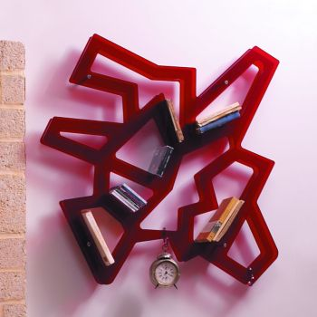 Libreria moderna a muro Macrame' in metacrilato 100 x 100 cm