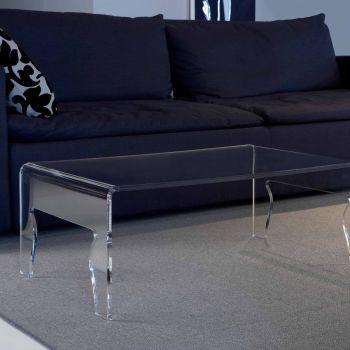 Tavolino da salotto Naif in plexiglass larghezza 56 o 85 cm
