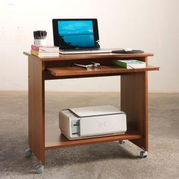 Porta computer scrivania in legno PC150 colore Noce 80 cm