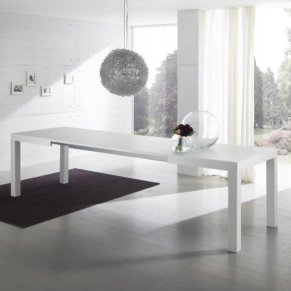 Tavolo da pranzo Midnight allungabile in legno Bianco o Cemento
