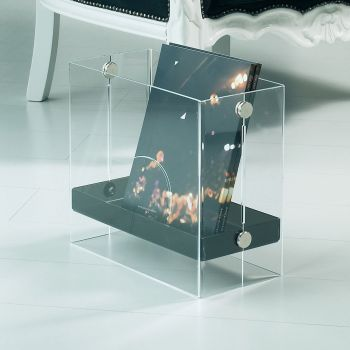Portariviste Bibai in plexiglass trasparente rosso o satinato