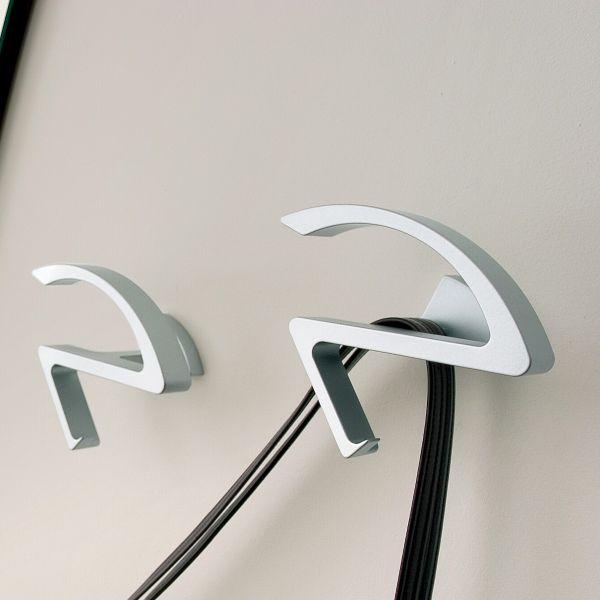Attaccapanni Da Parete Di Design.Coppia Attaccapanni Sandy Da Parete In Alluminio