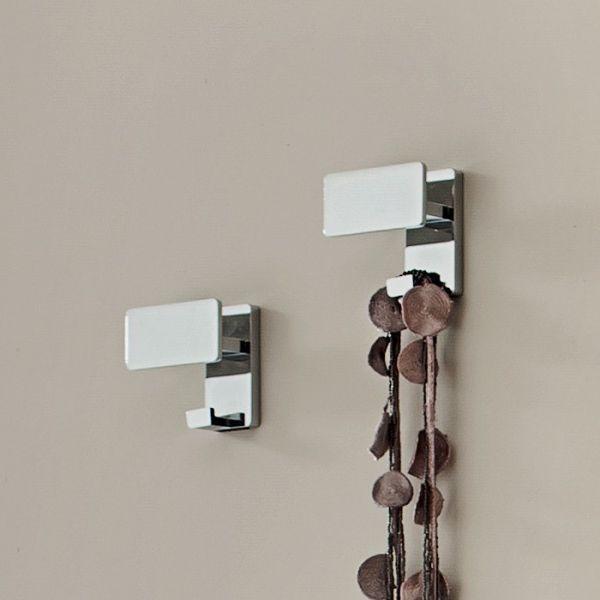 Appendiabiti In Metallo.Coppia Attaccapanni Grace Design In Metallo Cromato