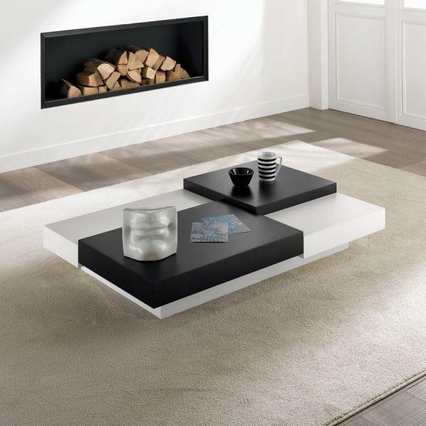 Tavolino moderno per soggiorno LIONEL | Tavolo basso rettangolare da ...