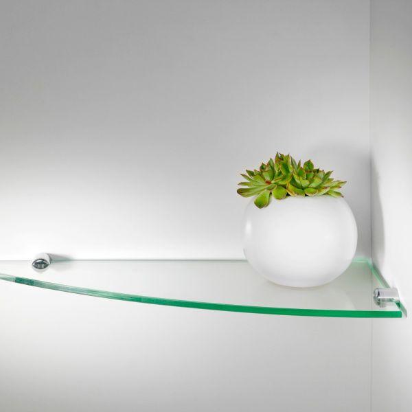 Mensole angolari in vetro per cucina bagno Angolino