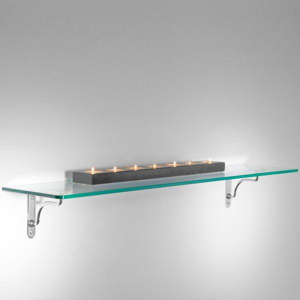 5 Mensole in VETRO trasparente Linea Maxi con REGGIMENSOLE design ...