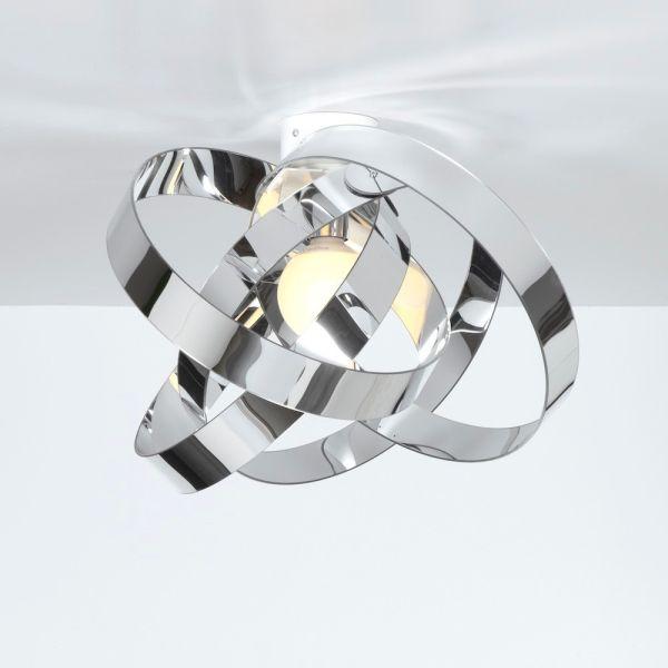 Plafoniera da soffitto design moderno in plexiglass Nuvola Cromo