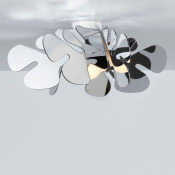 Plafoniera design da soffitto Aralia Cromo in plexiglass cromolite