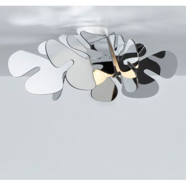 Plafoniera design da soffitto Aralia Cromo