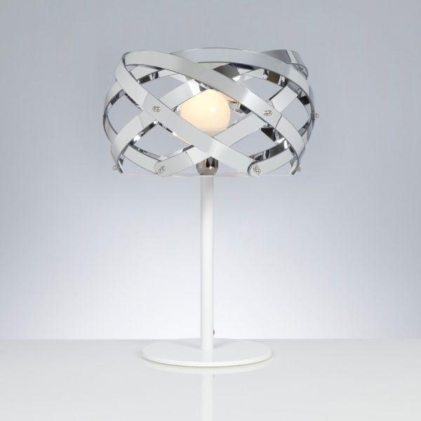 Lampada da tavolo per soggiorno diametro 42 cm nuclea cromo - Lampada per soggiorno ...