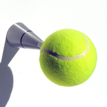 Attaccapanni Tennis da parete pomello a forma di pallina