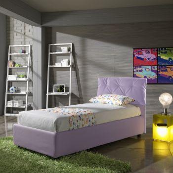Balkis letto singolo con contenitore o fisso 102 x 212 cm