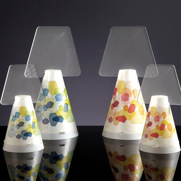 Lampada da tavolo Vesuvio abat jour design moderno a cono