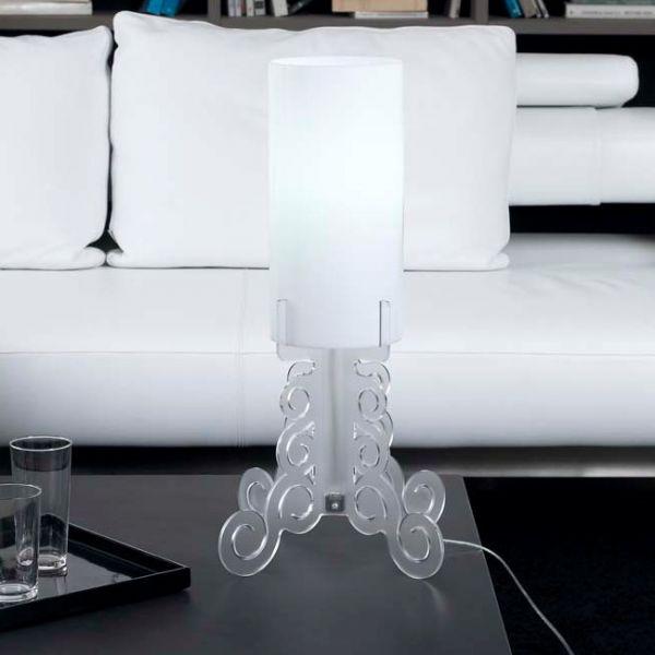 Lampada abat jour truciolo da tavolo per arredo salotto camera da letto design ebay - Tavolo da letto ...