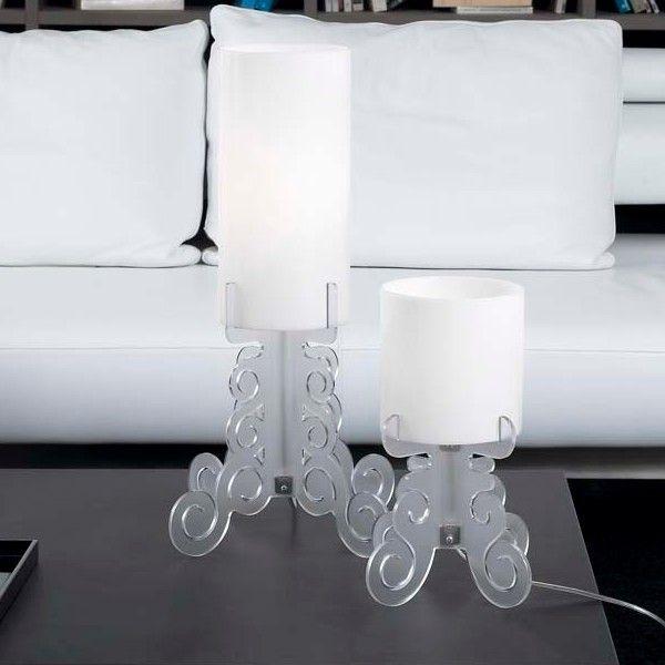 Lampada abat jour truciolo da tavolo per arredo salotto camera da ...