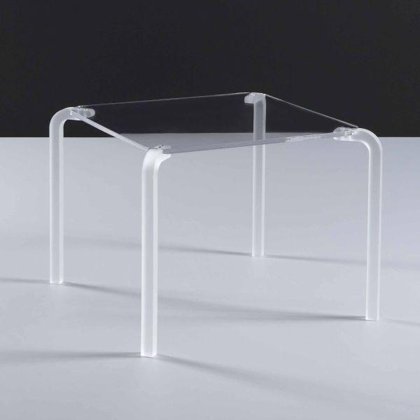 Tavolino quadrato da salotto in metacrilato design moderno Finny
