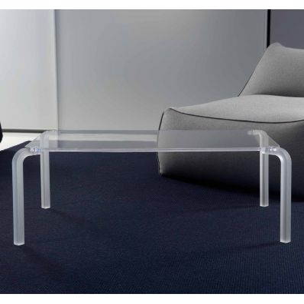 Finny tavolino rettangolare da salotto design moderno in metacrilato