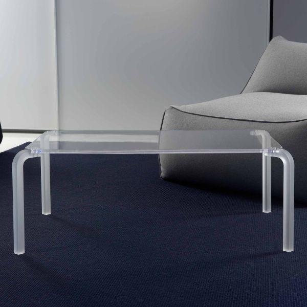 Tavolino da salotto rettangolare design moderno in metacrilato Finny