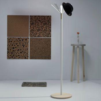Attaccapanni design Juta Wood per arredo ingresso moderno