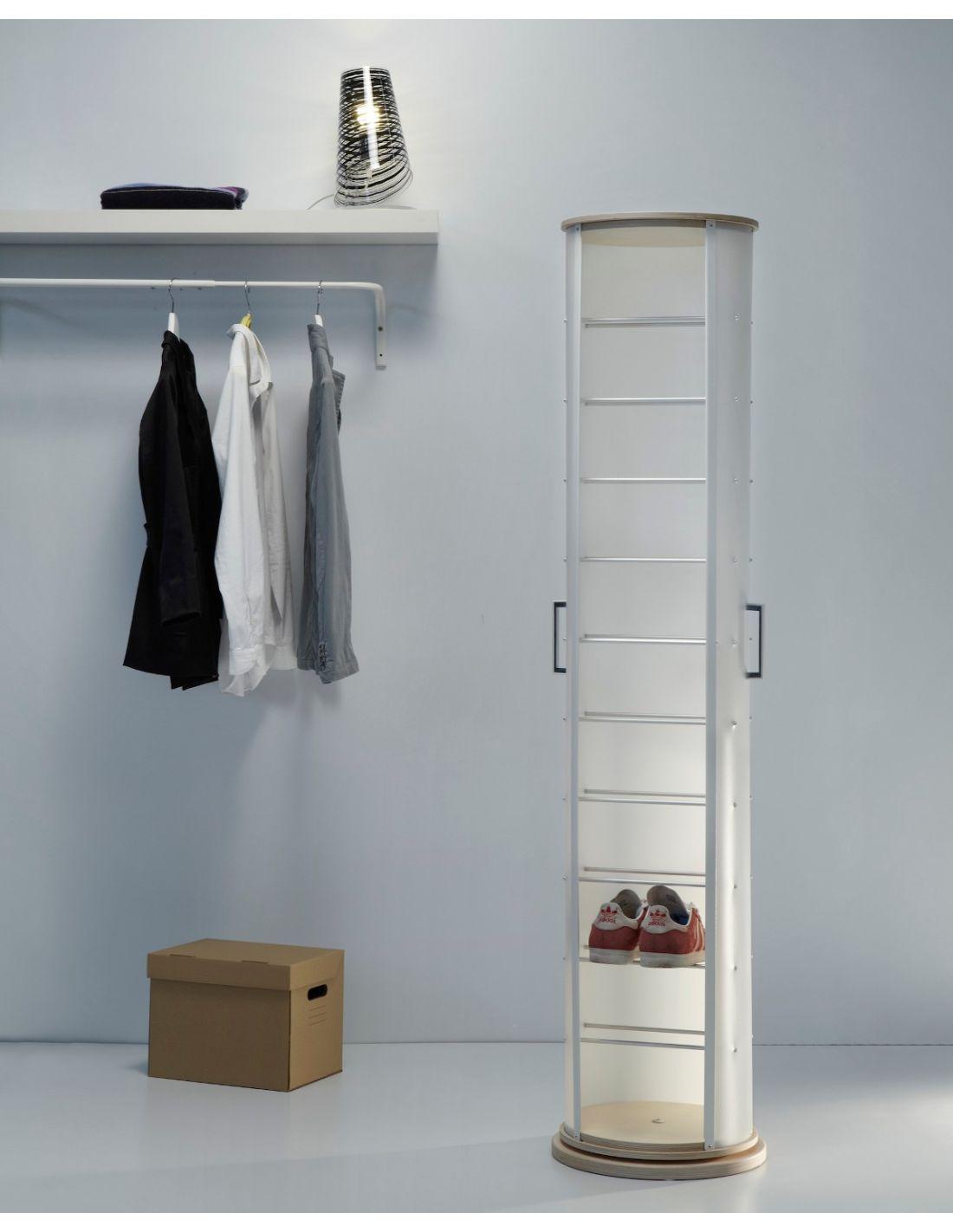 Scarpiera moderna in plastica e legno per 11 paia di - Scarpiera moderna design ...