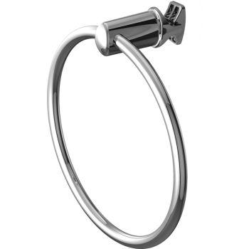Handy Ring portasciugamani cromato ad anello per termoarredo