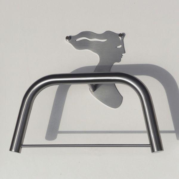 Servomuto design da parete portabiti in acciaio Angelica