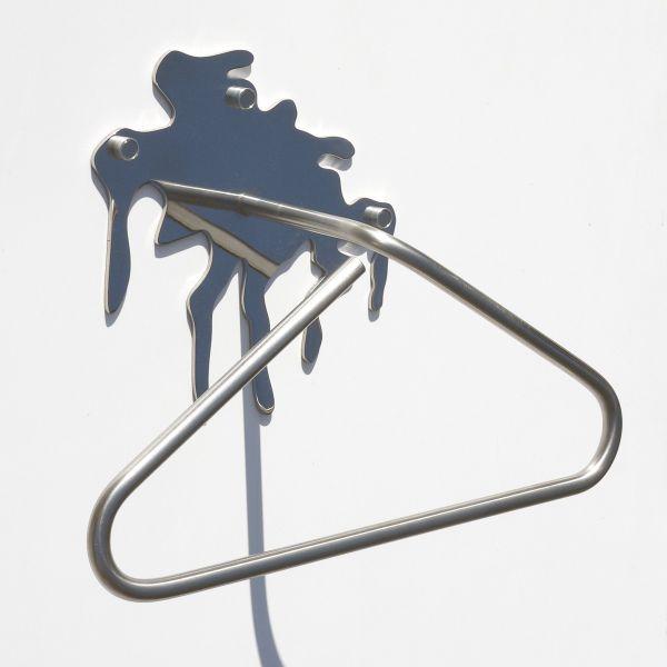 LiquidMetal servomuto appendiabiti da parete in acciaio