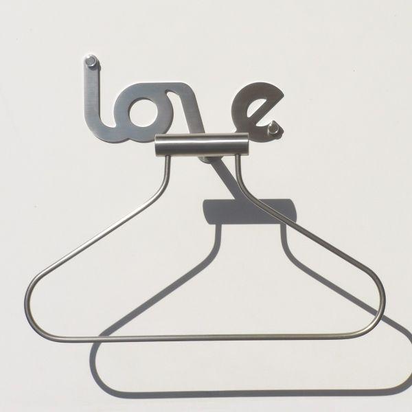 Portabiti da parete servomuto moderno in acciaio Love