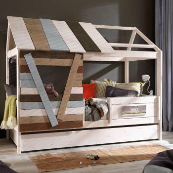 Cameretta bimbi Treehouse Basso in legno design con cassettone