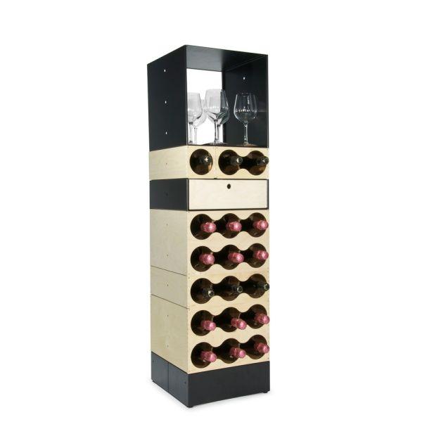 First cantinetta vino a colonna per 18 bottiglie in legno design