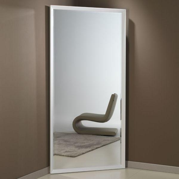 Specchiera Pezzani Angolo angolare in alluminio Bianco Cromo cm. 97 x 192 h
