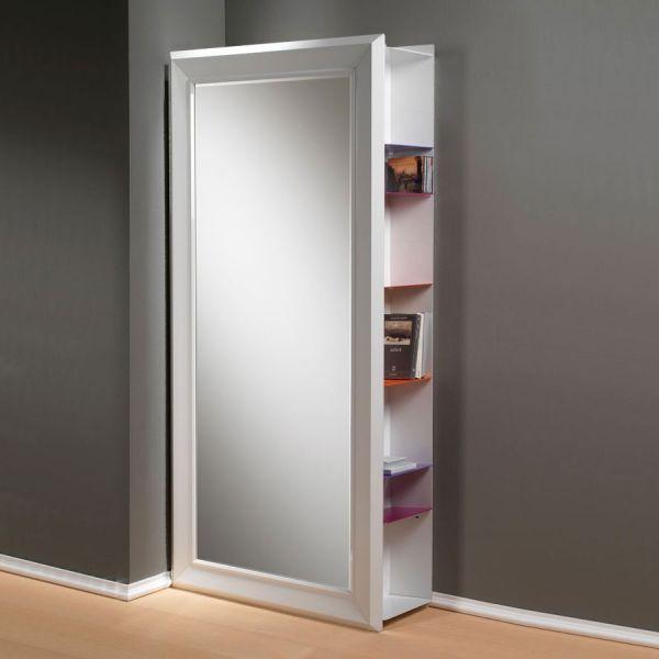 Specchio apribile da parete angolo rettangolo in legno - Specchi da ingresso ...