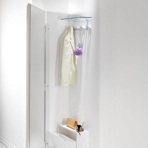 Mobili per ingresso angolo flat legno laccato bianco cm for Mobili x ingresso