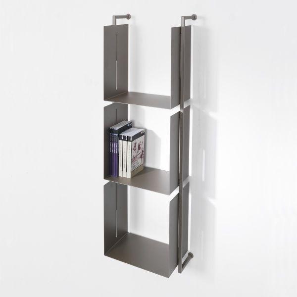 Libreria verticale Libra 17 in acciaio verniciato 38 x 119 cm