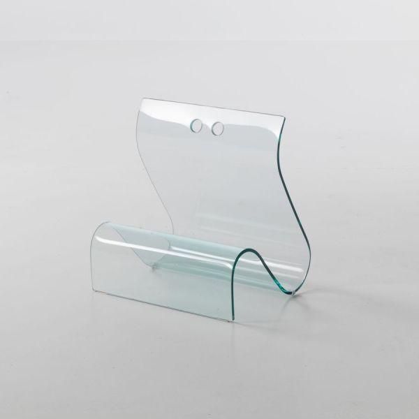 Portariviste Rebecca in vetro curvato temperato 45 x 35 cm