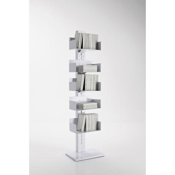 Libreria a colonna Bandol in metallo bianco 50 x 160 cm