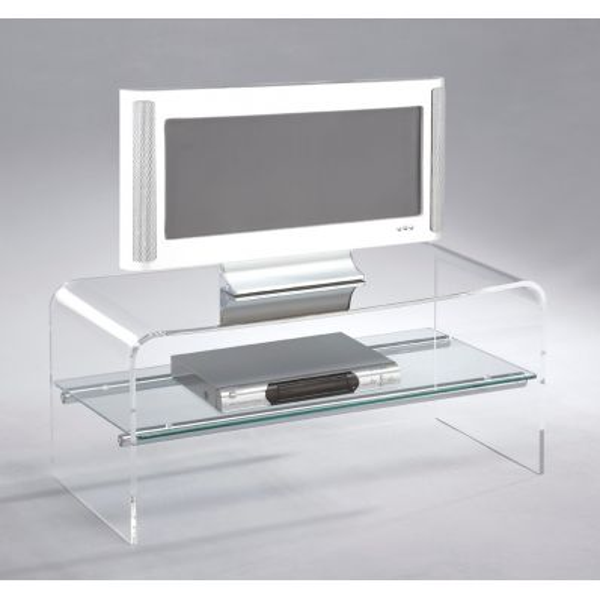 Mobiletto porta tv Austin in metacrilato trasparente 80 cm