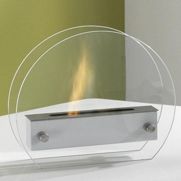 Porter caminetto bioetanolo design moderno in acciaio