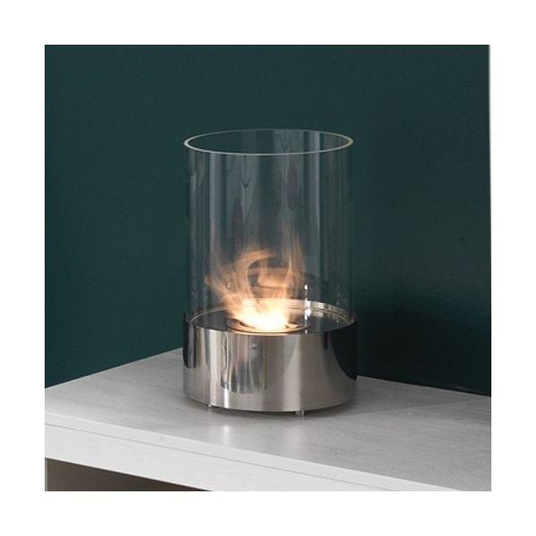 Raymond caminetto a bioetanolo in acciaio e vetro