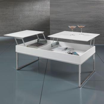 Tavolino da salotto Alisa apribile con contenitore 110 cm