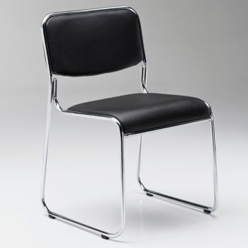 Rupert sedia operativa da ufficio in ecopelle bianca o nera
